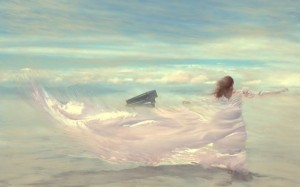 Fantasy-Painting-Woman-and-Piano-in-the-Wind-600x375