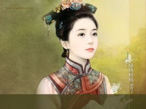 illustration_painting_artwork_of_Chinese_beauty_in_ancient_costume_b821