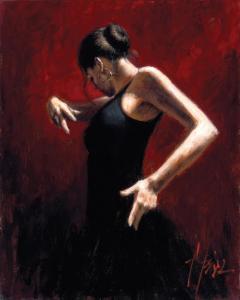 El Baile del Flamenco en Rojo I