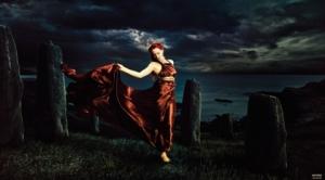 women landscapes dress redheads digital art artwork dancing 1920x1067 wallpaper_www.artwallpaperhi.com_11