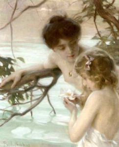 Chabas-Mother_and_child_bathing