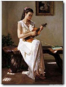 Violin woman