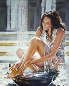 woman-bathing