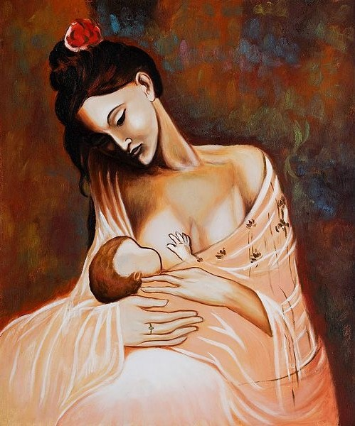Maternity-Artist-Interpretation-Oil-Painting