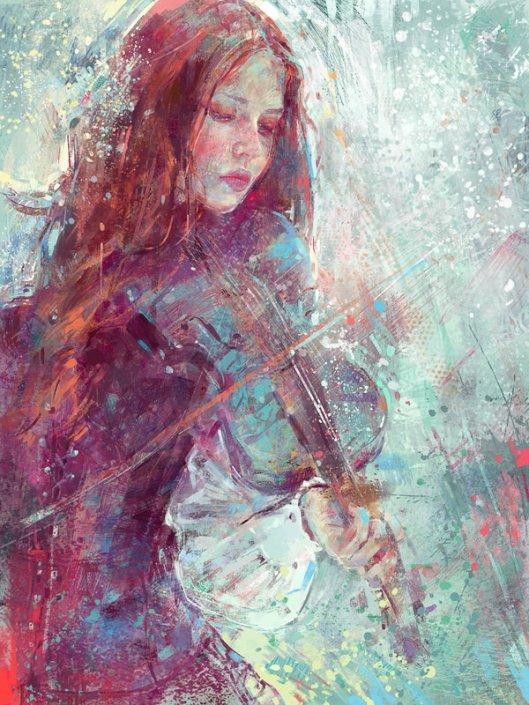 Digital_Painting__Winter_Heart_by_MartaNael