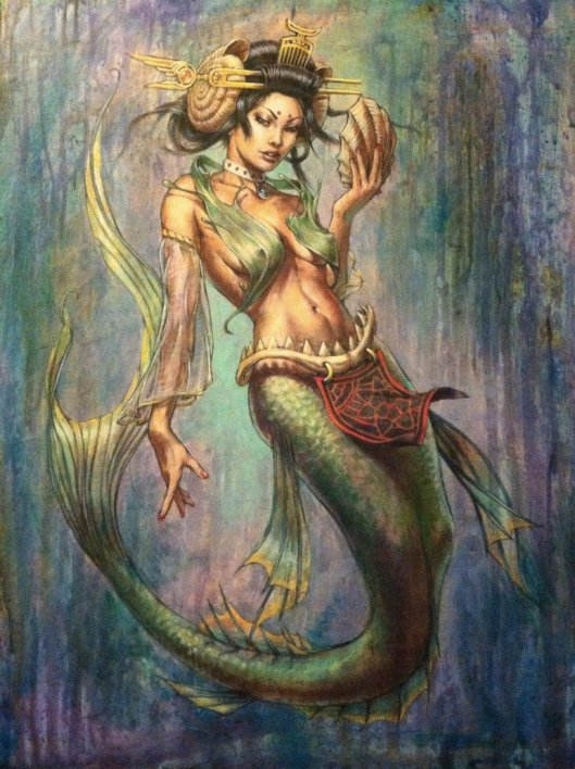 geisha_mermaid_painting_by_angotti81-d630pvm