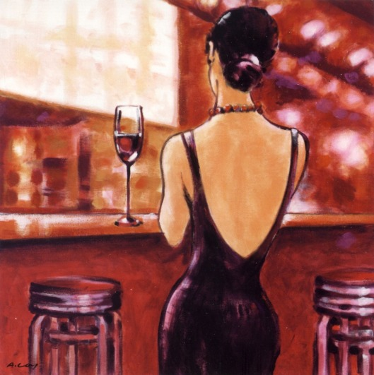 Ladies-in-font-b-Bar-b-font-font-b-Canvas-b-font-Oil-painting-Art-Picture