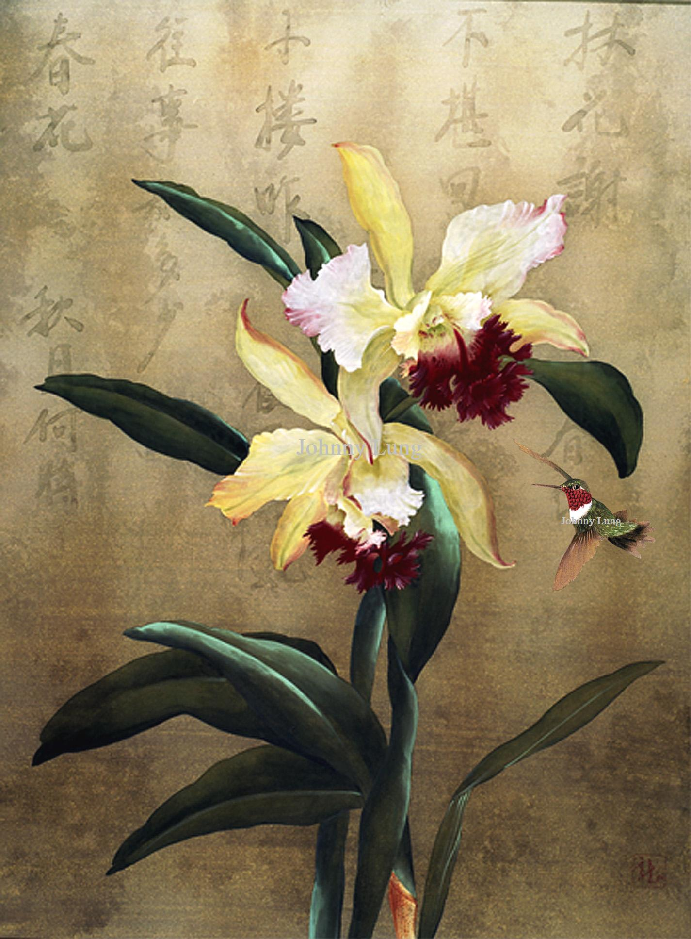 simple orchids paintings - HD1425×1935