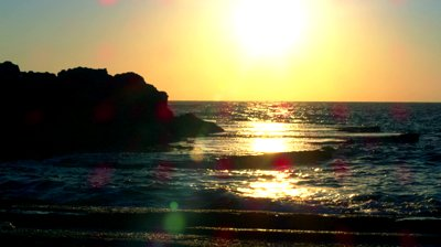 stock-footage-static-shot-at-dor-beach-israel-looking-at-the-sun-at-dusk-over-the-mediterranean