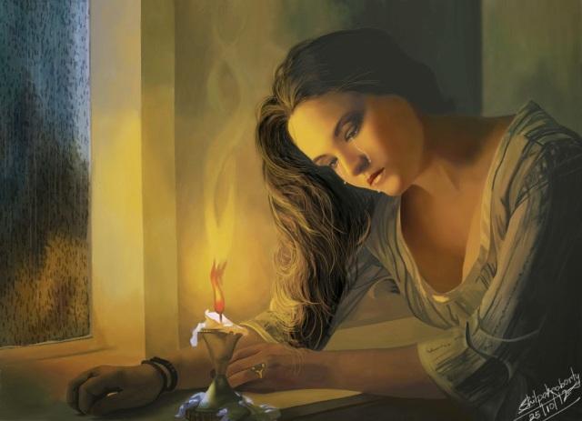 the_sad_woman_by_shilpachakraborty-d6p11fu