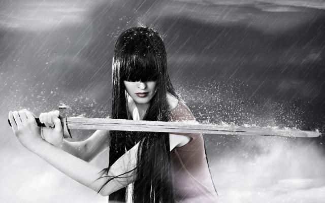 7038979-sword-warrior-girl-in-rain