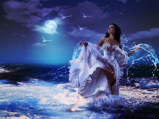 Woman-At-Night-At-Sea