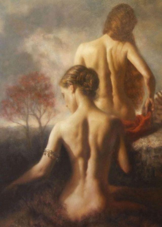Female Nude Portrait - Hamish Blakely - British Figurative painter - Tutt'Art@ (11)