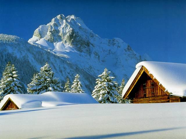 Winter-Landscape-in-Swiss-Alps-Wallpaper