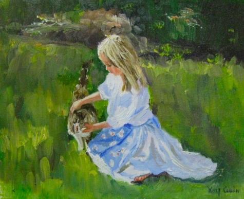 little_girl_with_her_cat__lauren_and_georgie_figurative__figurative__b5b870e018fa8970be3ca855582b00ae
