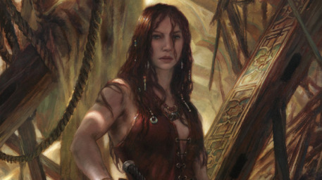 r169_457x256_14842_Red_Sonja_Lover_s_Quarrel_2d_fantasy_portrait_oil_painting_warrior_realism_female_girl_picture_image_digital_art