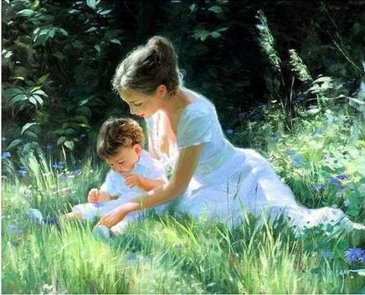 mother-and-child-on-grass