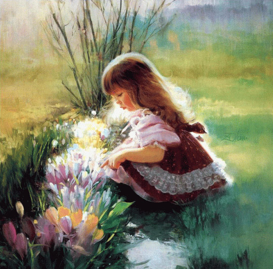 cute-little-girl-painting
