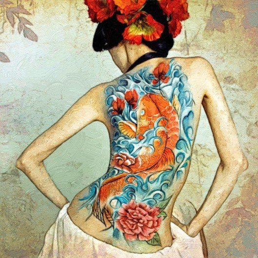 sexy_women_koi_fish_tattoos3_by_t_douglas_painting-d6k91of