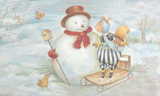 squirrel_takls_with_snowman
