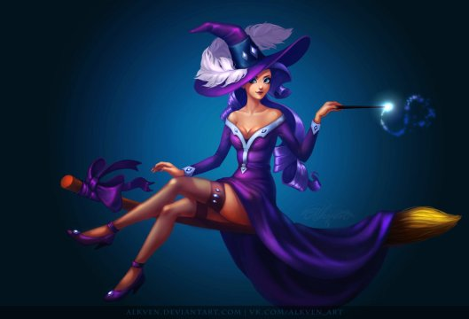 my_little_pony_halloween_pinup_witches__rarity_by_alkven-d6s2chd