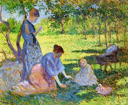 Poissy, Women in a Garden