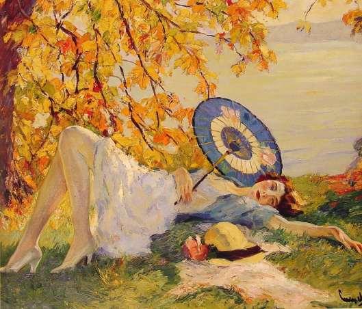 Woman_Reclining_by_a_Lake__Edward_Cucuel