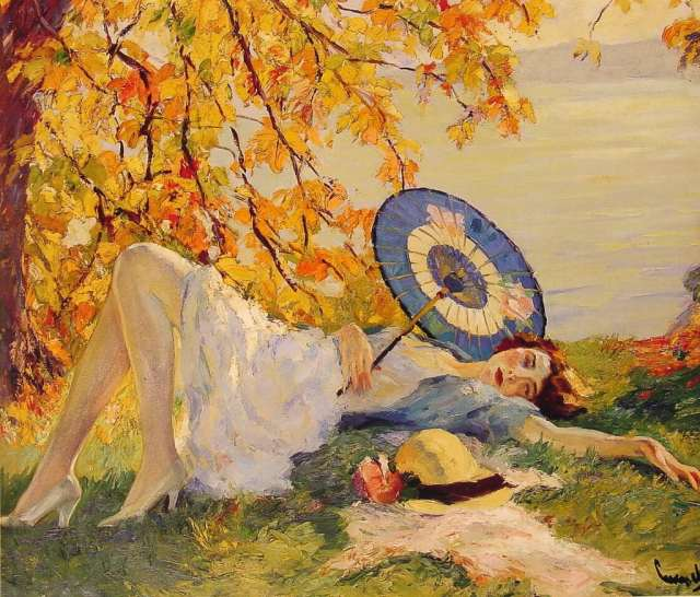 Woman_Reclining_by_a_Lake__Edward_Cucuel