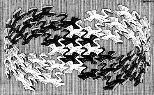 Escher_Swans_Wood-Engraving_1956